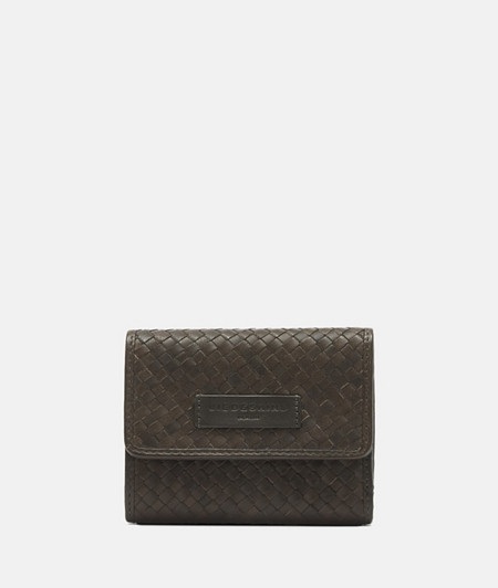 geflochtene Leder-Brieftasche