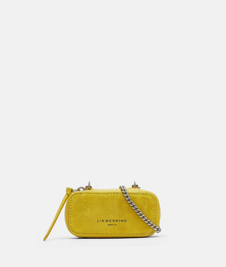 Micro bag made of suede and smooth leather from liebeskind