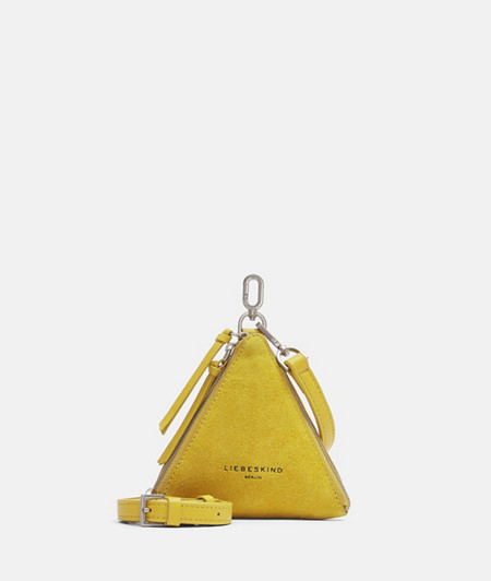 Mini suede triangle bag from liebeskind