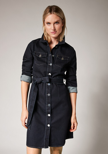 Denim dress with a belt from comma