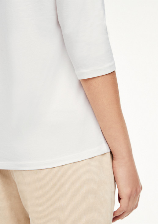 Jersey top with fashionable front print from comma