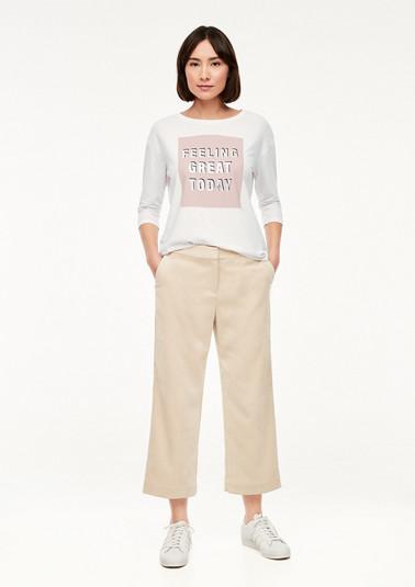 Jerseyshirt mit modischem Frontprint