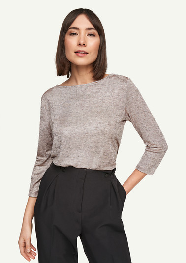 Top with a metallic effect from comma