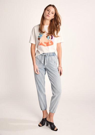 Regular Fit: Leichte 7/8-Jeans