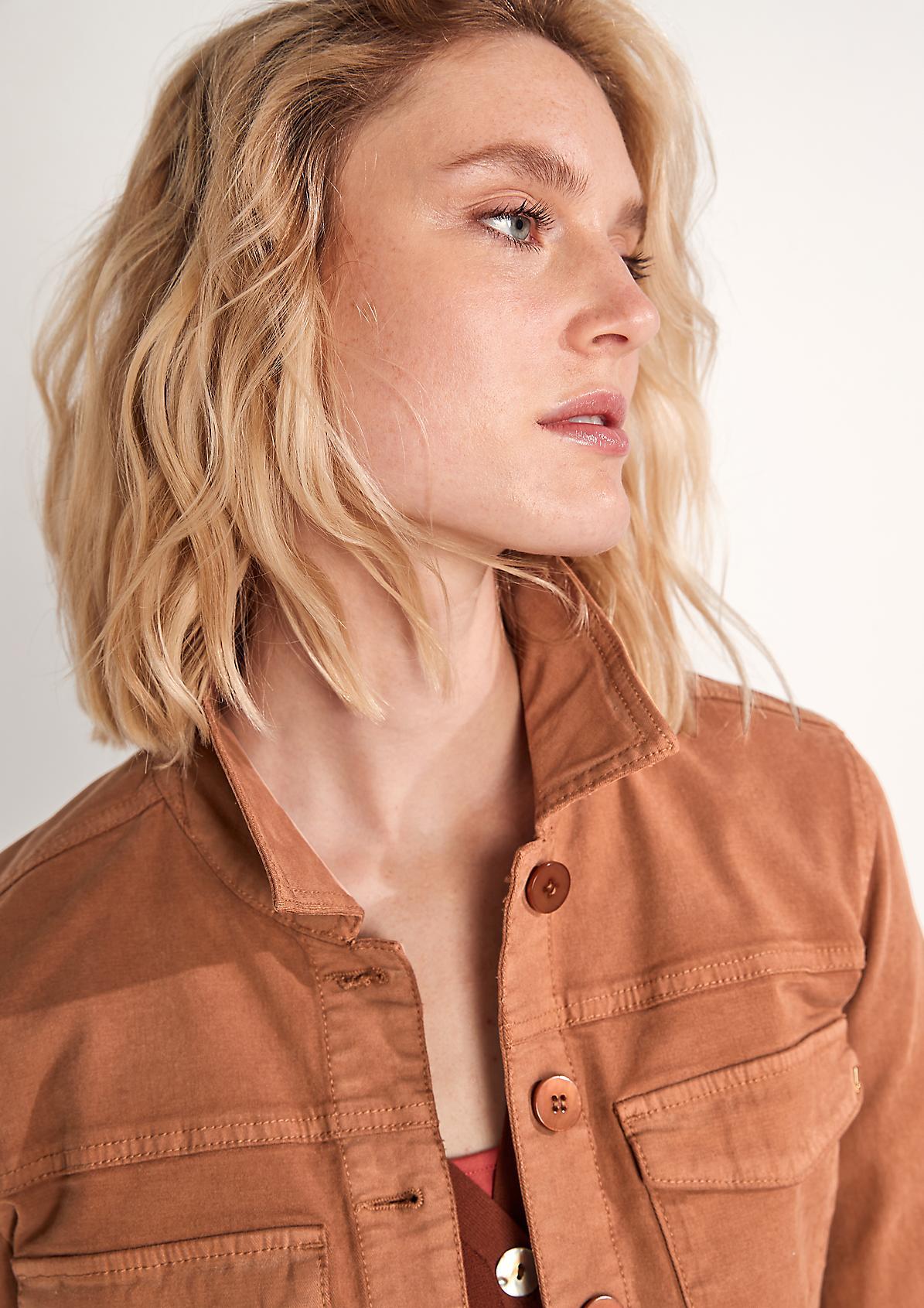 Jacke aus Twill mit Farbeffekt