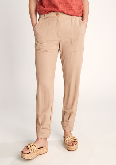 Regular: 7/8-length viscose trousers from comma