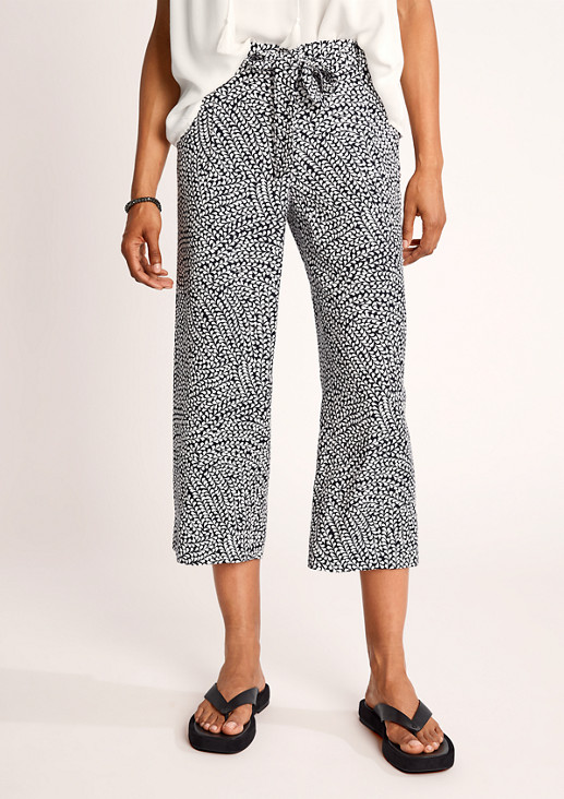 Regular Fit: Patterned culottes from comma