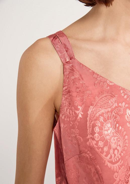 Schimmernde Bluse mit Paisleymuster