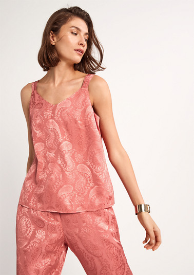 Shimmering blouse with paisley pattern from comma