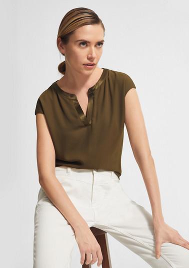 T-Shirt mit Chiffon-Front