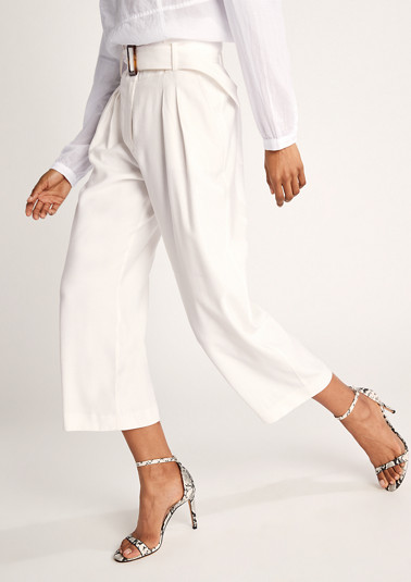 Regular Fit: paperbag trousers from comma