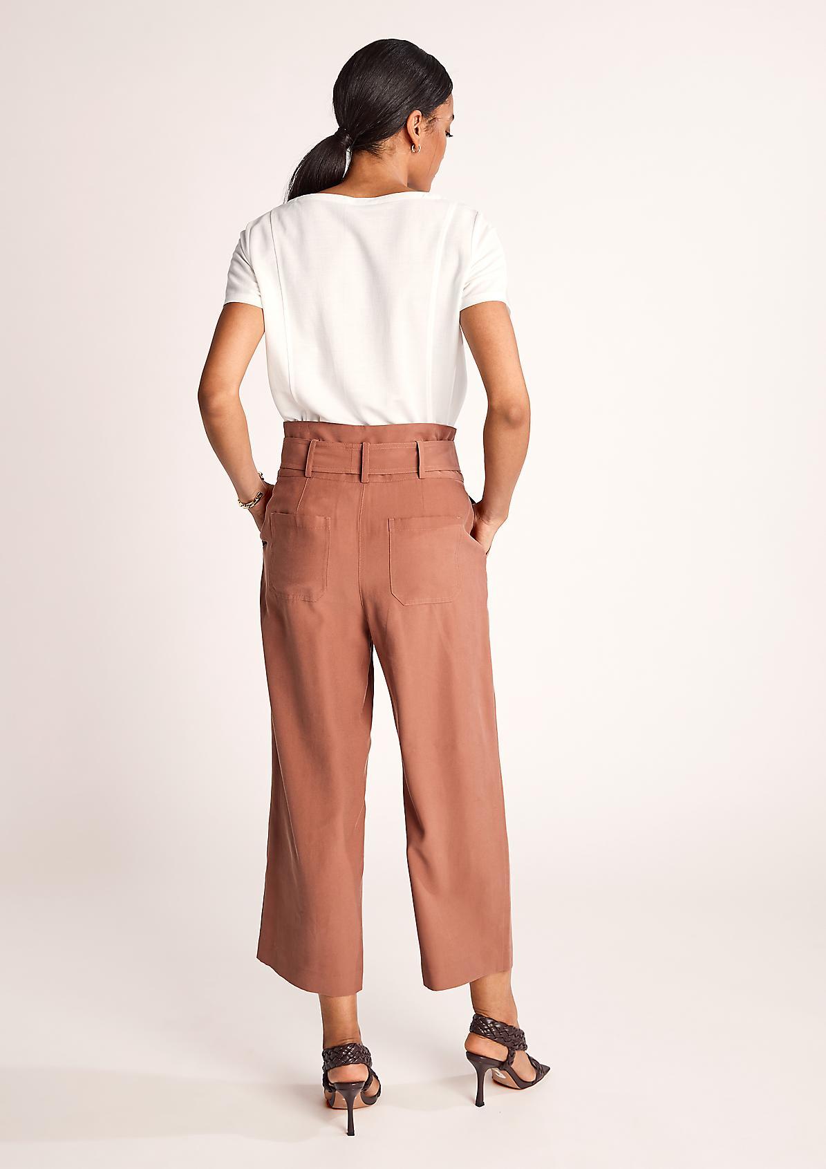 Regular Fit: Paperbag-Hose
