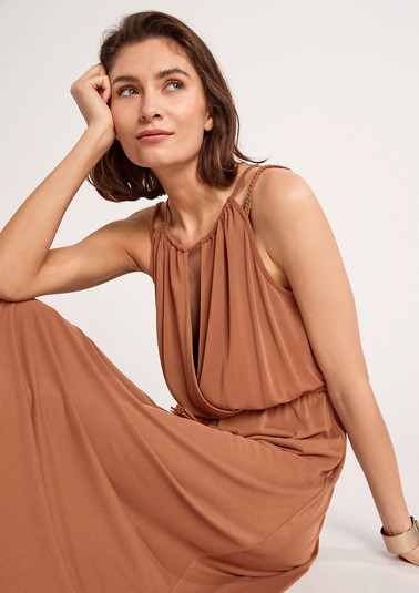 Blended modal dress with a braided belt from comma