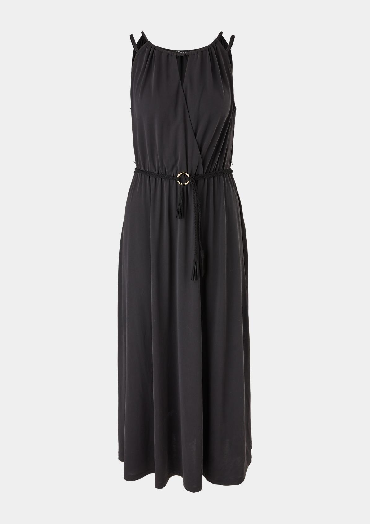 Modalmix-Kleid mit Flechtgürtel