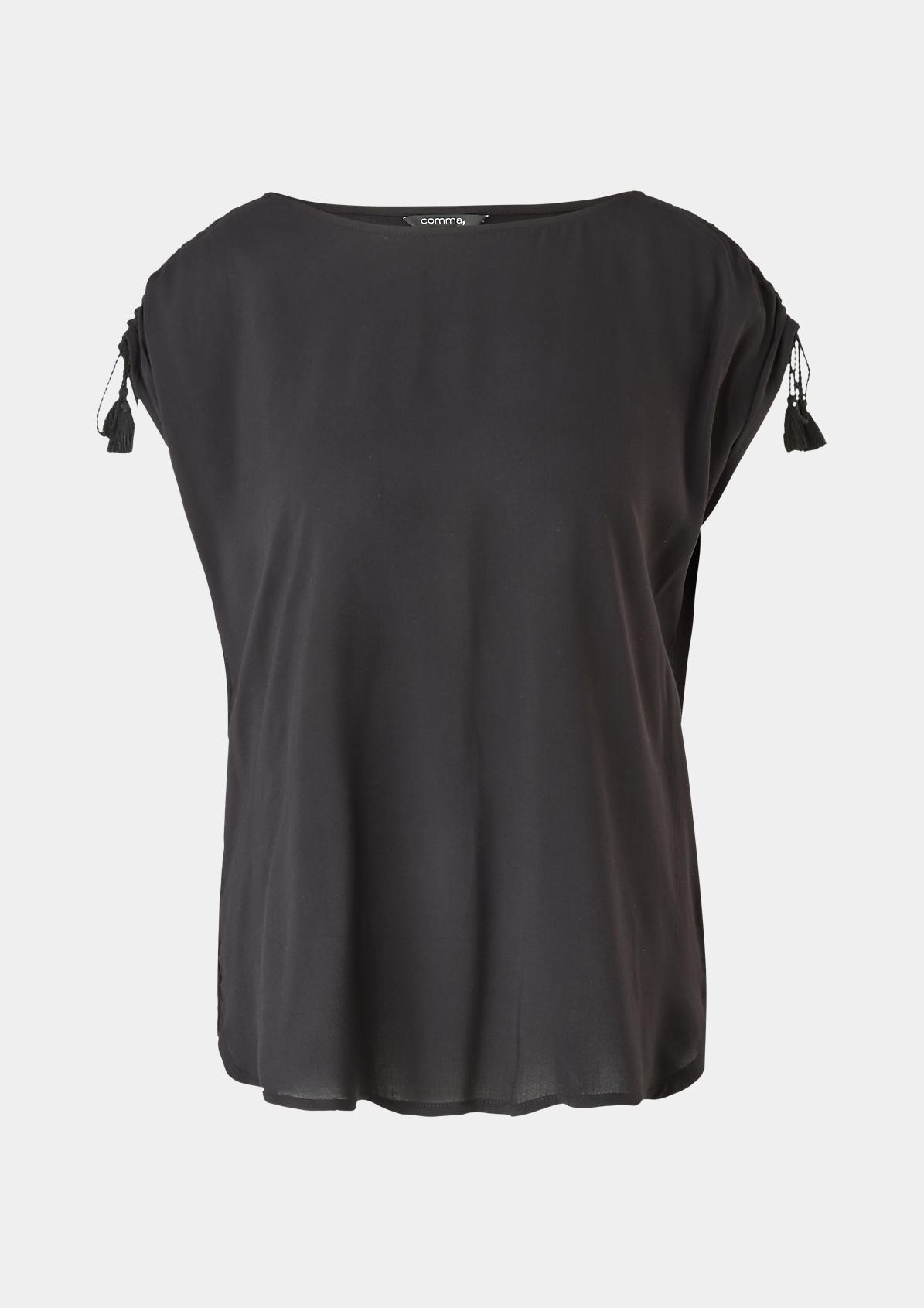 Shirt mit Quastenbändchen