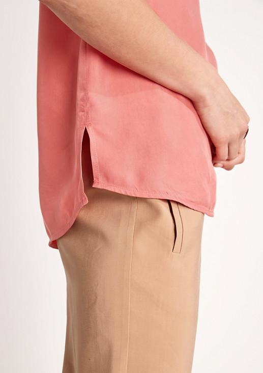 Bluse aus Cupro und Viskose