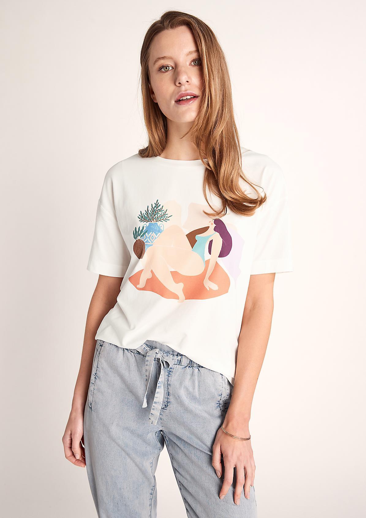 Jerseyshirt mit Art-Print