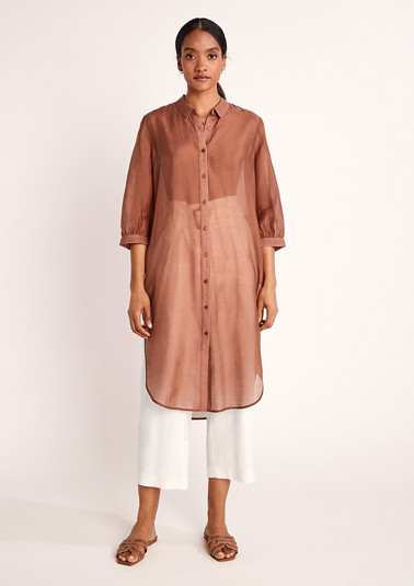 Long blouse in a lyocell blend from comma