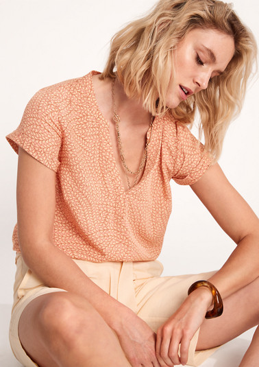 Short sleeve viscose blouse from comma