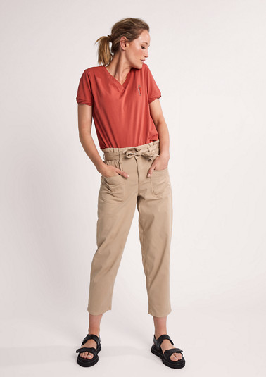 Regular Fit: straight leg trousers from comma