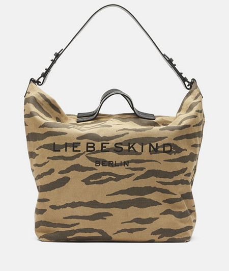 Canvas bag in a tiger look from liebeskind