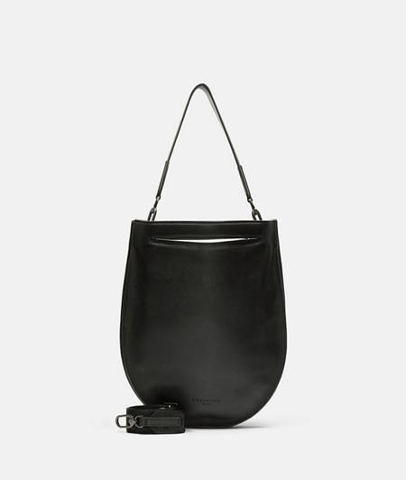 runde Tasche aus Leder