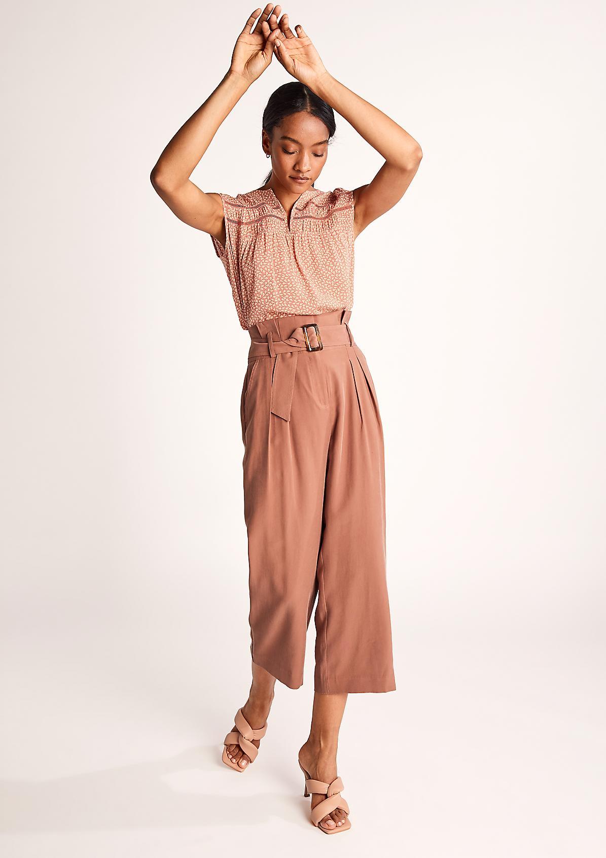 Bluse aus Crinkle-Viskose