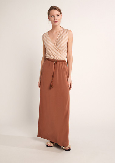 Maxi skirt with a braided belt from comma