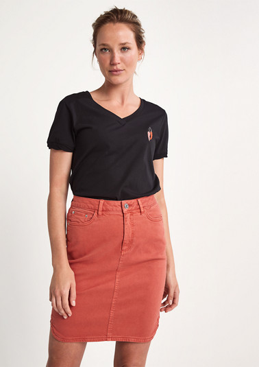 Denim skirt with tape from comma