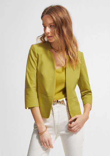 Short blazer in a cotton blend from comma