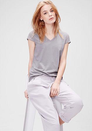 T-Shirt mit transparenten Ärmeln