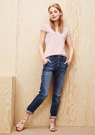 Boyfriend: jeans with a button placket from s.Oliver