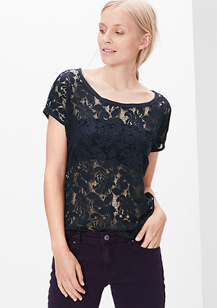 Sheer lace top from s.Oliver