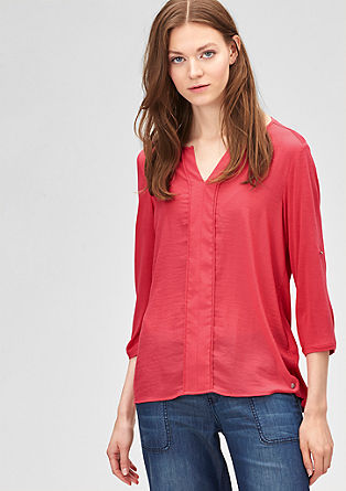 Blouse top with 3/4-length sleeves from s.Oliver