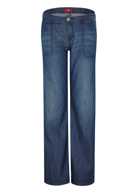 smart wide leichte jeans mit schlag kaufen s oliver shop. Black Bedroom Furniture Sets. Home Design Ideas