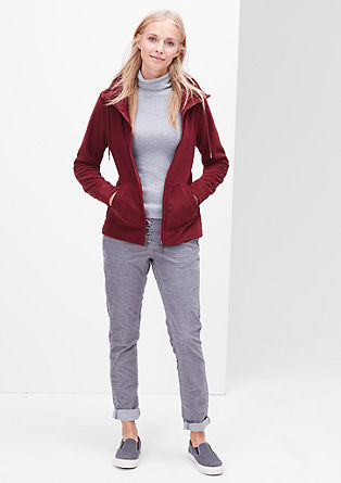 Fleece jacket with a large collar from s.Oliver