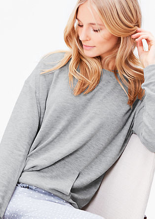 Sweatshirt in Melange-Optik