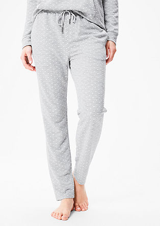 Loungewear trousers with polka dots from s.Oliver
