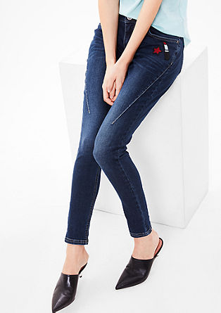 Shape Super Skinny: jeans with patches from s.Oliver