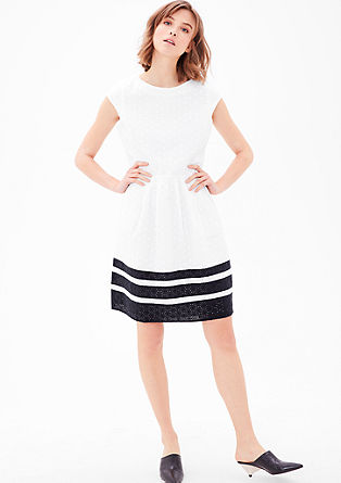 Lace dress with block stripes from s.Oliver