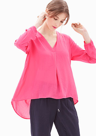 Crêpe blouse in a mullet style from s.Oliver