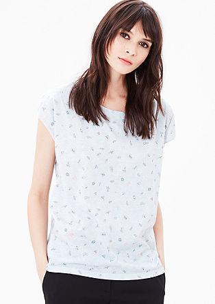 T-Shirt mit Comic Allover-Print