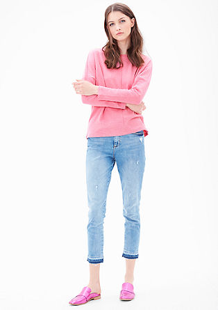 Comfortabel sweatshirt in boxy fit