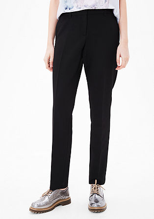 Shape Slim: Trousers with pressed pleats from s.Oliver