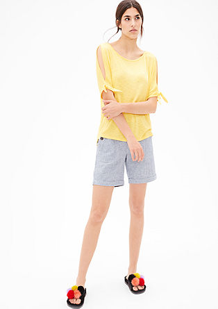High-low T-shirt with cut-outs from s.Oliver