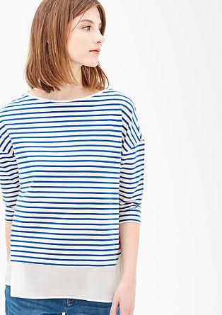 Lyocell-Sweatshirt im Lagenlook