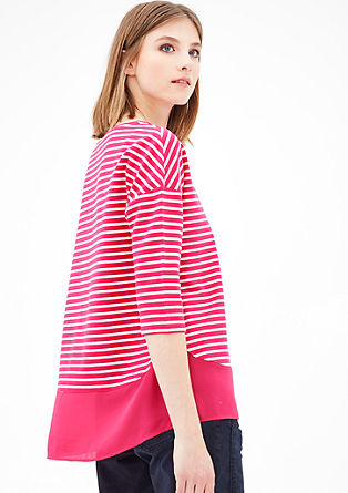 Lyocell sweatshirt in a layered look from s.Oliver