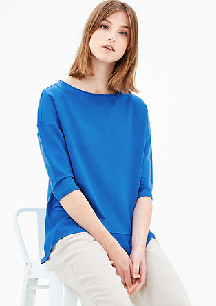 Sweatshirt with a blouse hem from s.Oliver