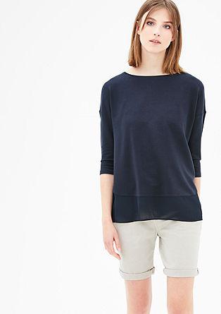 Sweatshirt mit Blusensaum