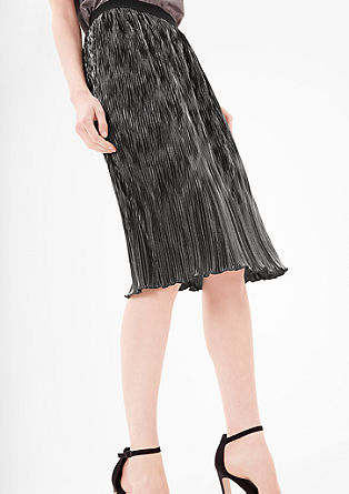 Pleated skirt in a metallic look from s.Oliver